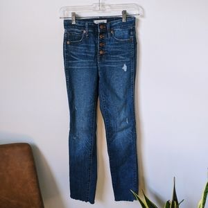 Madewell High Rise Skinny Jeans w/ Button Fly